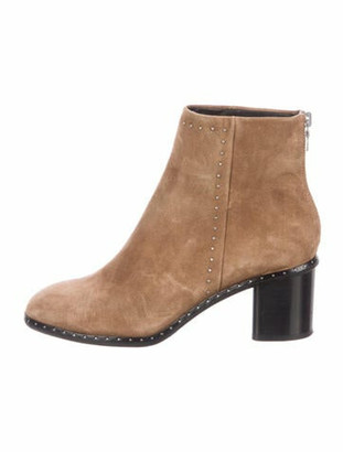 Rag & Bone Suede Studded Accents Boots Brown