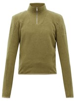Gmbh - Panelled Organic-cotton Fleece - Mens - Khaki