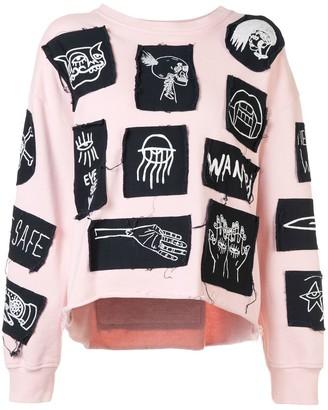 Haculla Stabat it patch sweatshirt