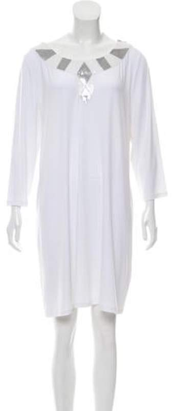 MICHAEL Michael Kors Sequined Mini Dress White Sequined Mini Dress