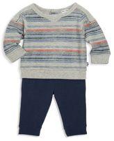 Splendid Baby's Two-Piece Reverse-Print Stripe Sweater & Pants Set