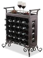 Winsome Trading Silvano 25-Bottle Wine Rack in Bronze