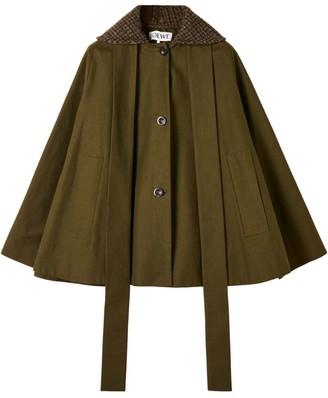 Loewe Tweed Collar Cape Jacket