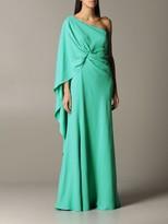 Alberta Ferretti Long One-shoulder Dress