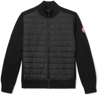 Canada Goose HyBridge Slim-Fit Merino Wool and Quilted Nylon Down Jacket - Men - Black