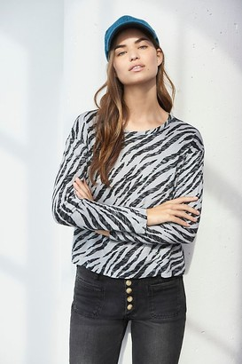 Stateside Zebra Burnout Top