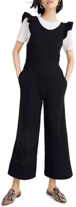 Madewell Texture Thread Ruffle Strap Jumpsuit