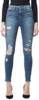 Good American Good Waist frayed skinny ultra high-rise jeans