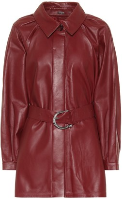 Dodo Bar Or Leather mini shirt dress