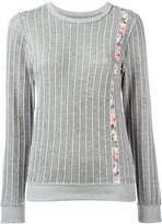 Julien David pinstripe jumper - women - Cotton - S