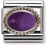 Nomination Stainless Steel, Silver & Amethyst February Birthstone Classic Charm 030510/02