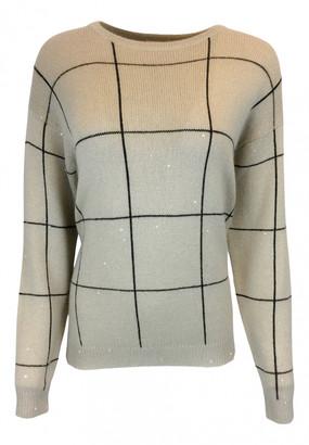 Brunello Cucinelli Beige Cashmere Knitwear
