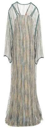 Missoni Layered Metallic Open-knit Maxi Dress