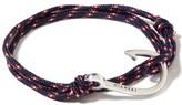 Miansai Silver Hook on Navy Blue Rope Bracelet