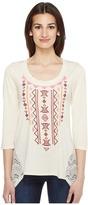 Roper 0946 Cream Ity Jersey Tunic Women's Blouse