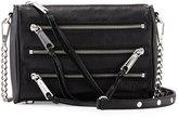 Rebecca Minkoff Mini 5-Zip Leather Crossbody Bag, Black