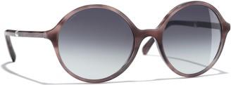 Chanel Round Sunglasses CH5391H Light Tortoise