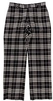 Burberry Check Wool Pants