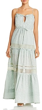 Jonathan Simkhai Kava Eyelet Maxi Dress Swim Cover-Up