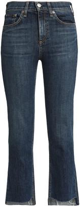 Rag & Bone Frayed Mid-rise Slim-leg Jeans