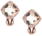 Effy Jewelry Effy Blush 14K Rose Gold Morganite and Diamond Earrings, 6.90 TCW