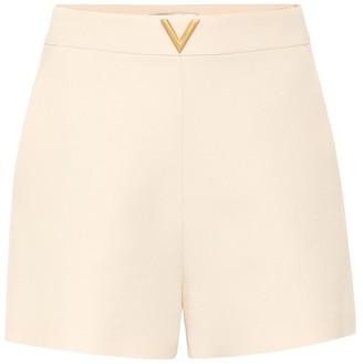 Valentino VGOLD wool and silk shorts
