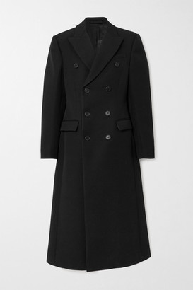 Wardrobe NYC Double-breasted Wool-twill Coat - Black