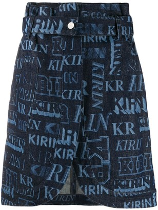 Kirin High-Waisted Logo Skirt