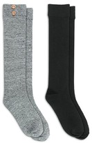 Charlotte Women's 2 Pack Marled Knee High Socks with Wood Buttons