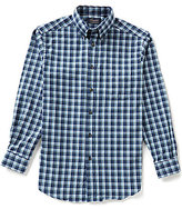 Roundtree & Yorke Casuals Long Sleeve Flannel Medium Plaid Sportshirt