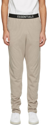 Essentials Beige Jersey Lounge Pants