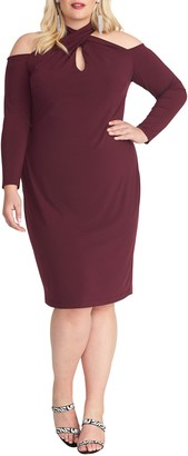 Rachel Roy Simone Long Sleeve Cold Shoulder Jersey Dress