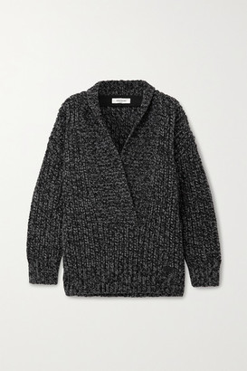 Valentino Oversized Wool And Cashmere-blend Sweater - Gray