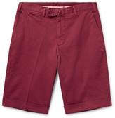 Isaia Stretch-Cotton Twill Shorts