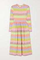 Stine Goya Joel Striped Stretch-jersey Midi Dress - Pink