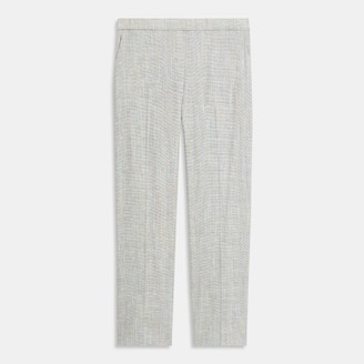 Theory Treeca Pull-On Pant in Multicolored Stretch Linen