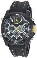 U.S. Army Men's Analog-Digital Chronograph Black Silicone Strap Watch by Wrist Armor