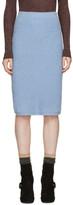 Prada Blue Alpaca Bouclé Skirt