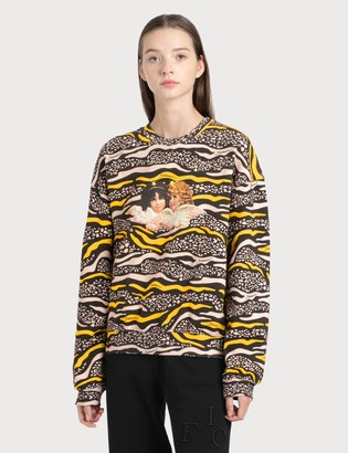 Fiorucci Vintage Angels Wildlife Printed Sweatshirt