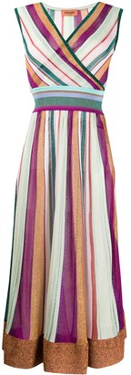 Missoni Striped Wrap-Style Midi Dress