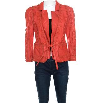 Just Cavalli Red Leather Jackets