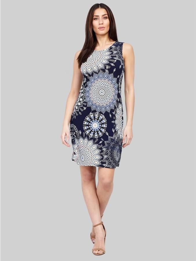 M&Co Izabel kaleidoscope print shift dress