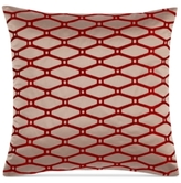"Hotel Collection Woven Texture Red 20"" Square Decorative Pillow"