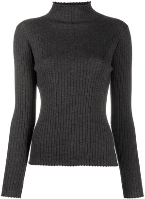 N.Peal Ribbed Knit Cashmere Sweater