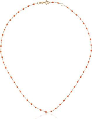 Gigi Clozeau 18k Yellow Gold Orange Beaded Necklace
