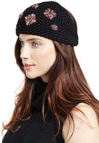 Jennifer Behr Embellished Wool Snowdrop Headband, Black/Purple