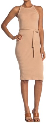 Velvet Torch Racerback Ribbed Midi Bodycon Dress