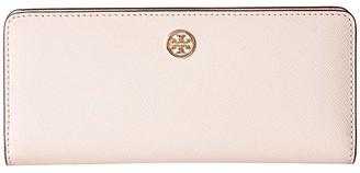 Tory Burch Robinson Slim Wallet (Black) Wallet Handbags