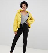 Noisy May Tall rib legging with exposed zip