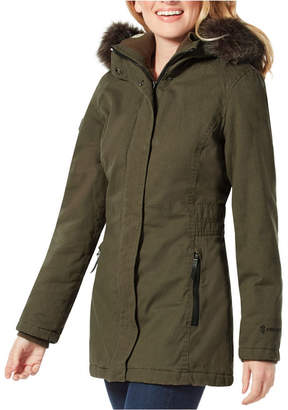 Free Country Parka Coat with Attached Faux-Fur Hood